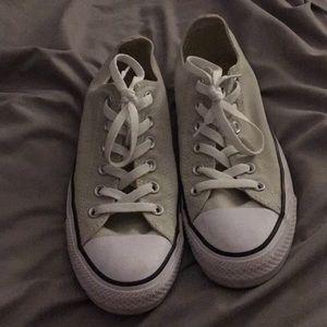 Light Grey Low Top Converse